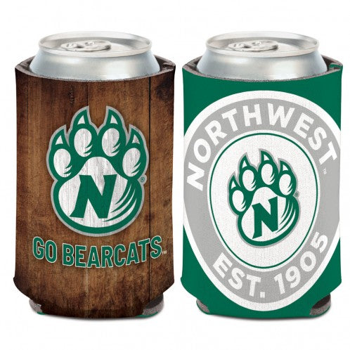 "Northwest Missouri State ""Seal and Paw"" 2 Sided Design Can Coozi"