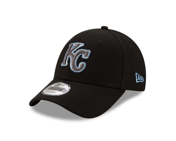 Kansas City Royals 2020 Adjustable 9FORTY Black Logo Hat by New Era