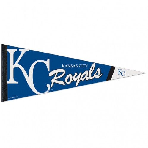 "Kansas City Royals Royal Blue Premium Pennant 12"" x 30"" by Wincraft"