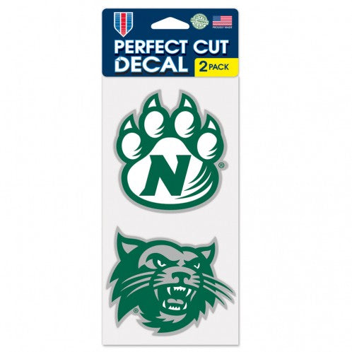 "Northwest Missouri State ""Bearcat and Paw"" 2 Pack 4""x4"" Sticker Shock Decal"