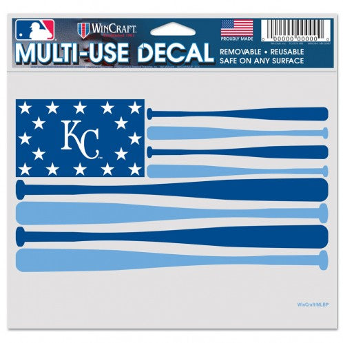 "Kansas City Royals ""Bat Flag"" Perfect Cut Color Decal 5"" x 6"" by Wincraft"