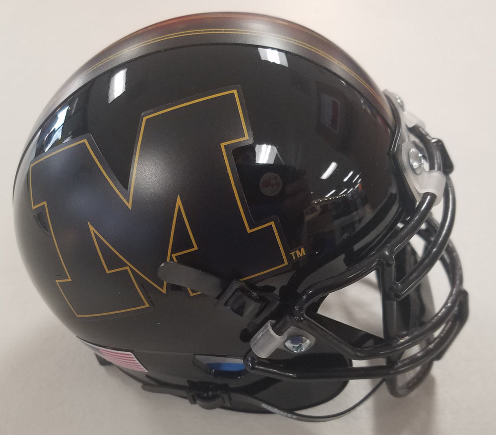 Missouri Tigers All Black Block M Mini Helmet by Schutt