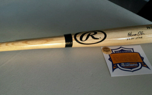 Kansas City Royals Amos Otis Signed Autographed Full Size Blonde Bat COA