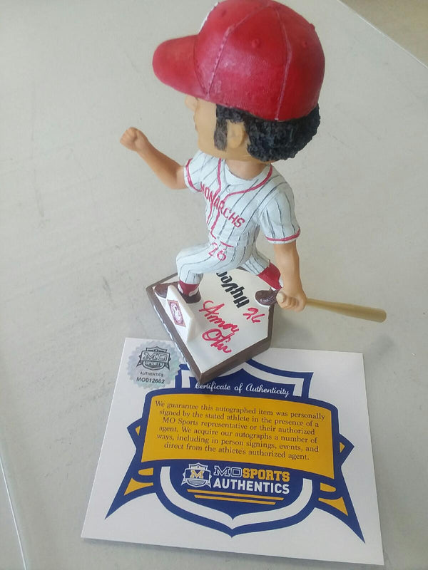 Kansas City Royals Amos Otis Signed Autographed Negro Leagues Bobblehead COA