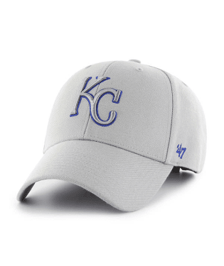 Kansas City Royals Gray 47 MVP Adjustable Hat by '47 Brand