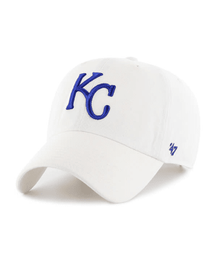 Kansas City Royals White Clean Up Adjustable Hat by '47 Brand