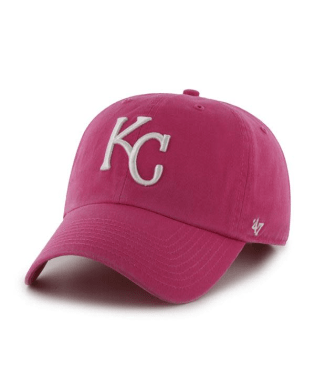 Kansas City Royals Magenta 47 Clean Up Adjustable Hat by '47 Brand