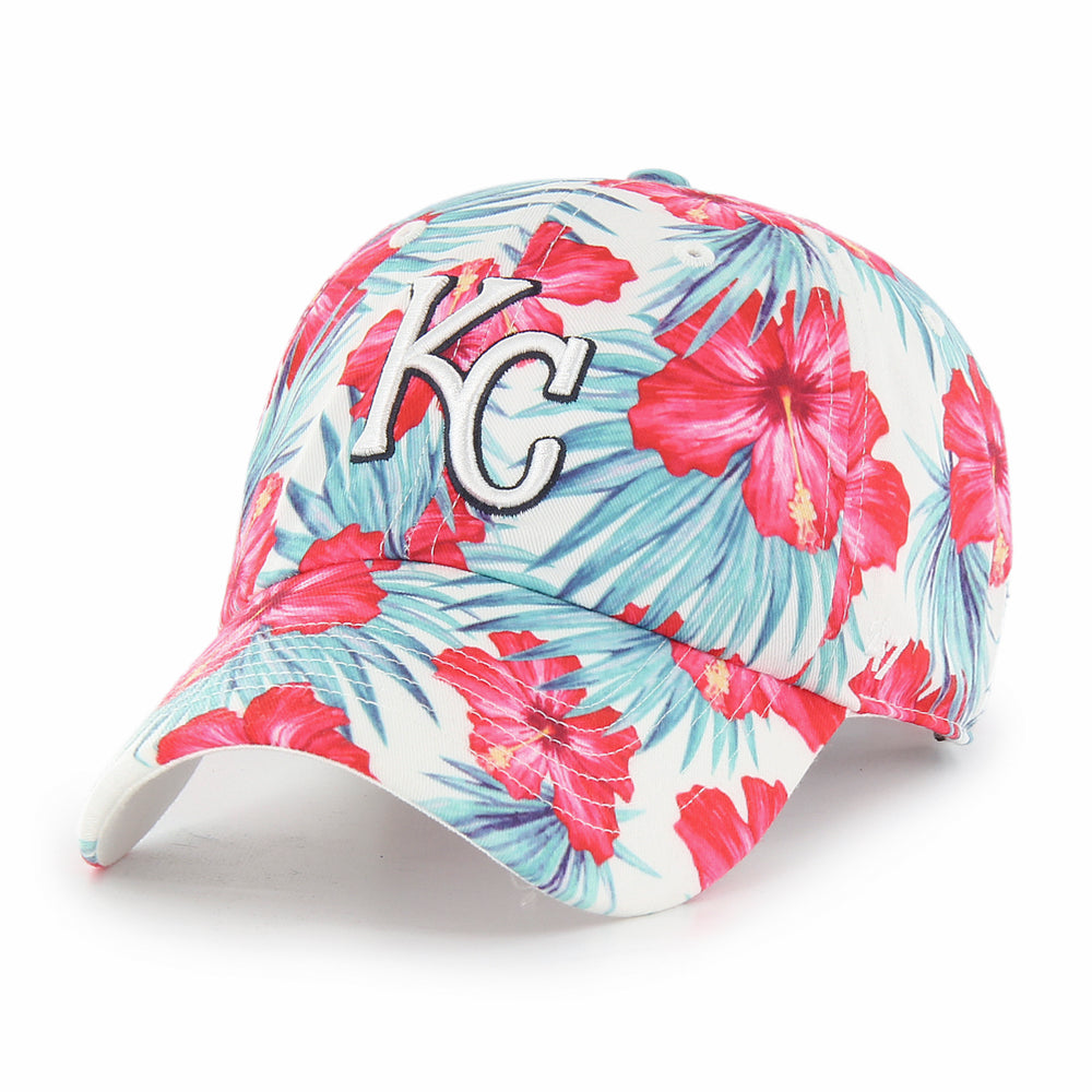 Kansas City Royals 2021 WHITE SHARRON 47 CLEAN UP Adjustable Hat by '47 Brand