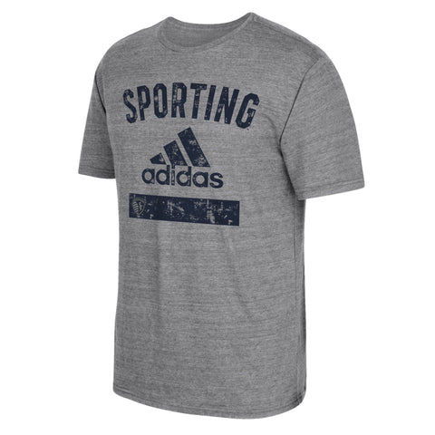 Sporting Kansas City Men's Equipment Tri-Blend T-Shirt by adidas