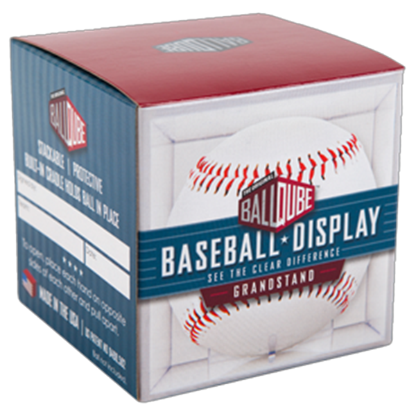 UV Grandstand Baseball Built-In Cradle Display