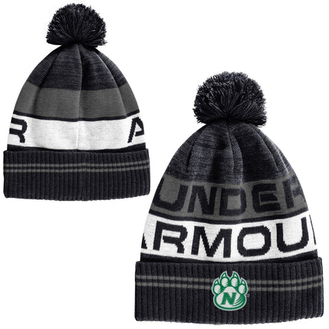Northwest Missouri State Pom Forest Black Knit Hat by Under Armour