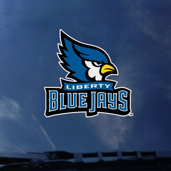 Liberty Blue Jays Primary Logo Color Shock Decal