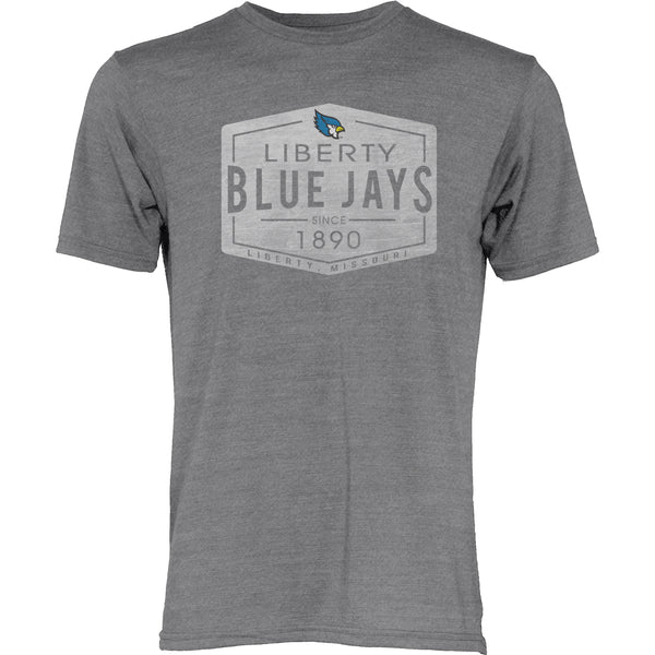 Liberty Blue Jays Gray Tri Blend Diamond Design T-Shirt by Blue 84