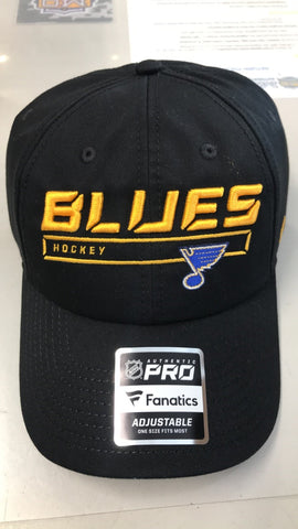 St. Louis Blues Adjustable Authentic Pro Rinkside Hat by Fanatics