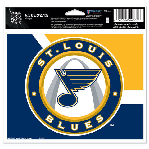 "St. Louis Blues Multi-Use Colored Decal 5"" x 6"" by Wincraft"