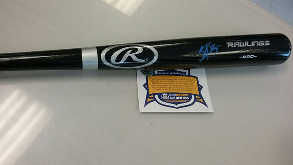 Kansas City Royals Jorge Bonifacio Signed Autographed Full Size Bat COA