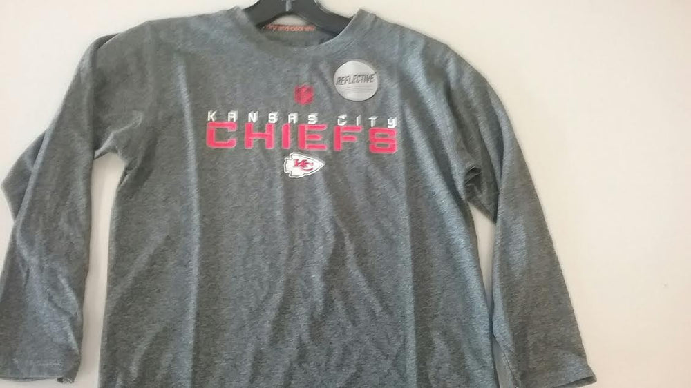 Kansas City Chiefs Boys Size Long Sleeve Performance T-Shirt by Outerstuff
