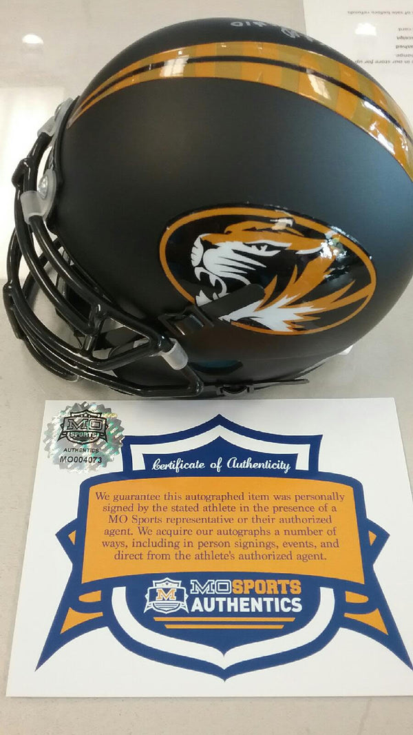 Missouri Tigers Signed Autographed Kentrell Brothers Mini Helmet COA