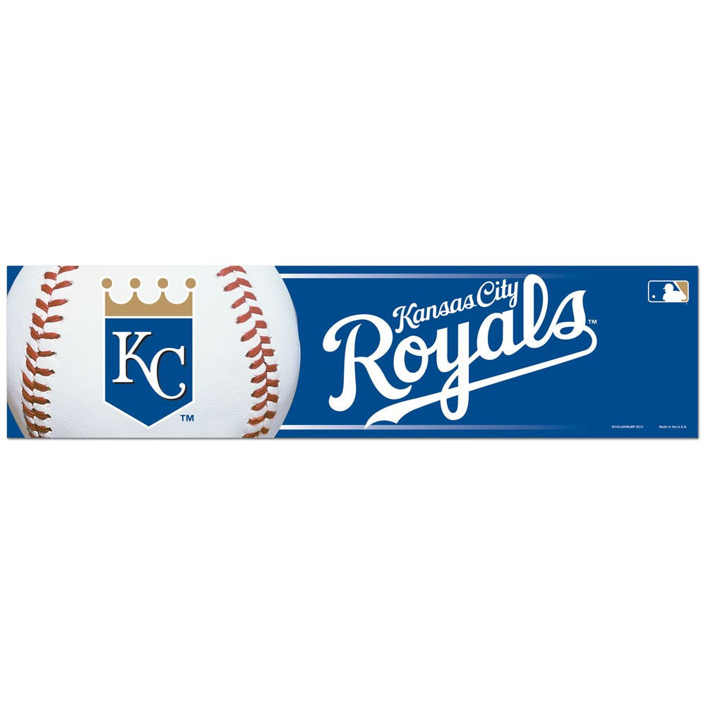 "Kansas City Royals Bumper Strip 3"" x 12"""