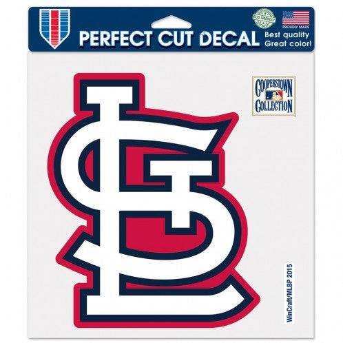 "St. Louis Cardinals Retro Cooperstown Logo 8""x8"" Perfect Cut Decal by Wincraft"