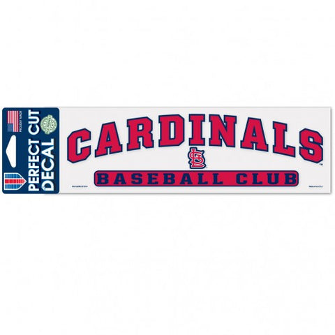 "St. Louis Cardinals 3""x10"" Perfect Cut Decal by Wincraft"