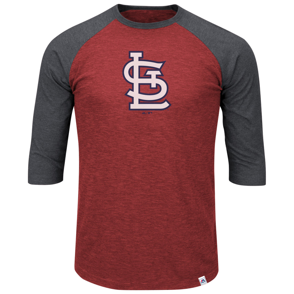 St. Louis Cardinals Grueling Ordeal 3/4 Sleeve Baseball Tee by Majestic