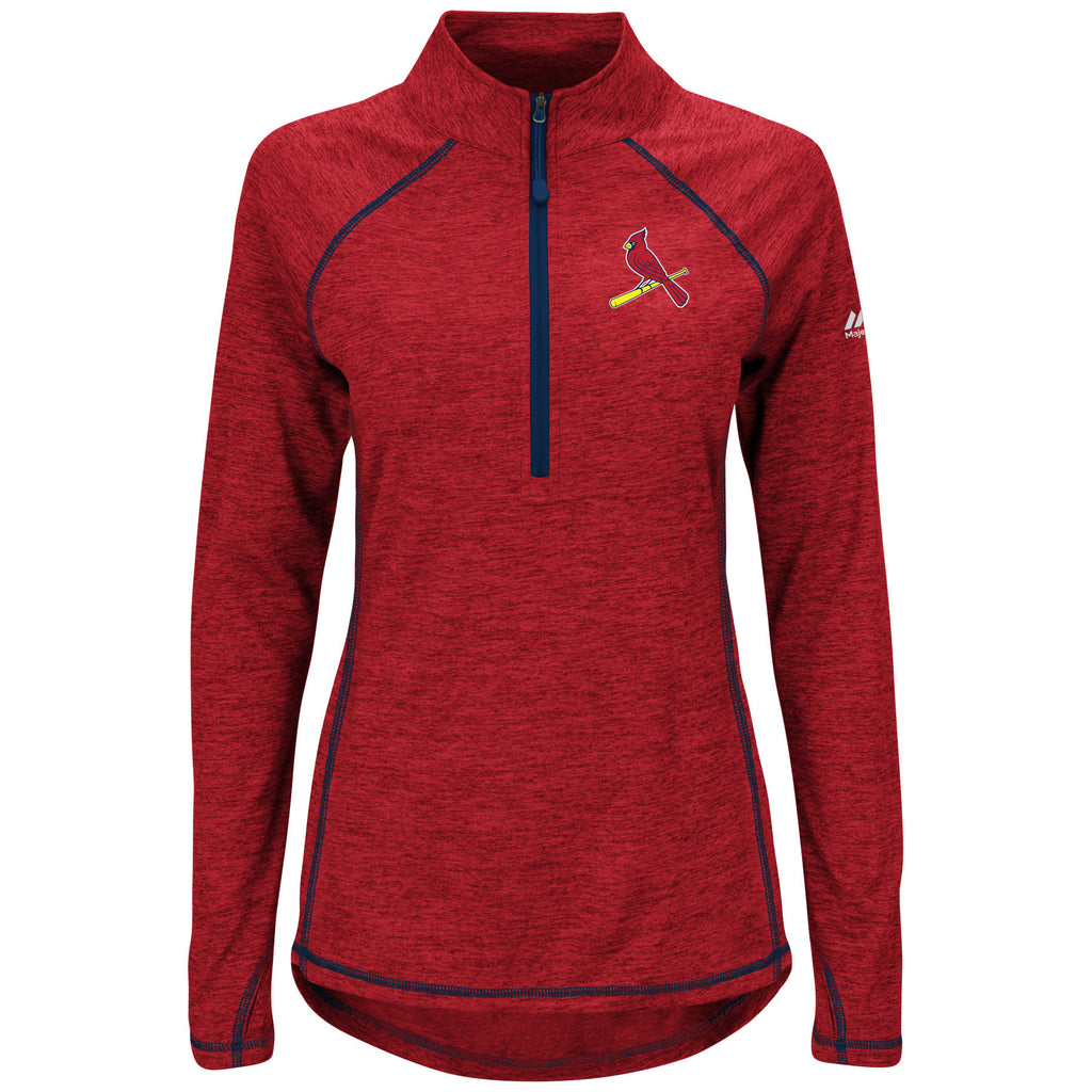 St. Louis Cardinals Last Rally Ladies 1/2 Zip Pullover by Majestic