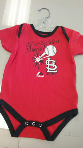 "St. Louis Cardinals Infant Red ""It's Outta Here"" Onesie"