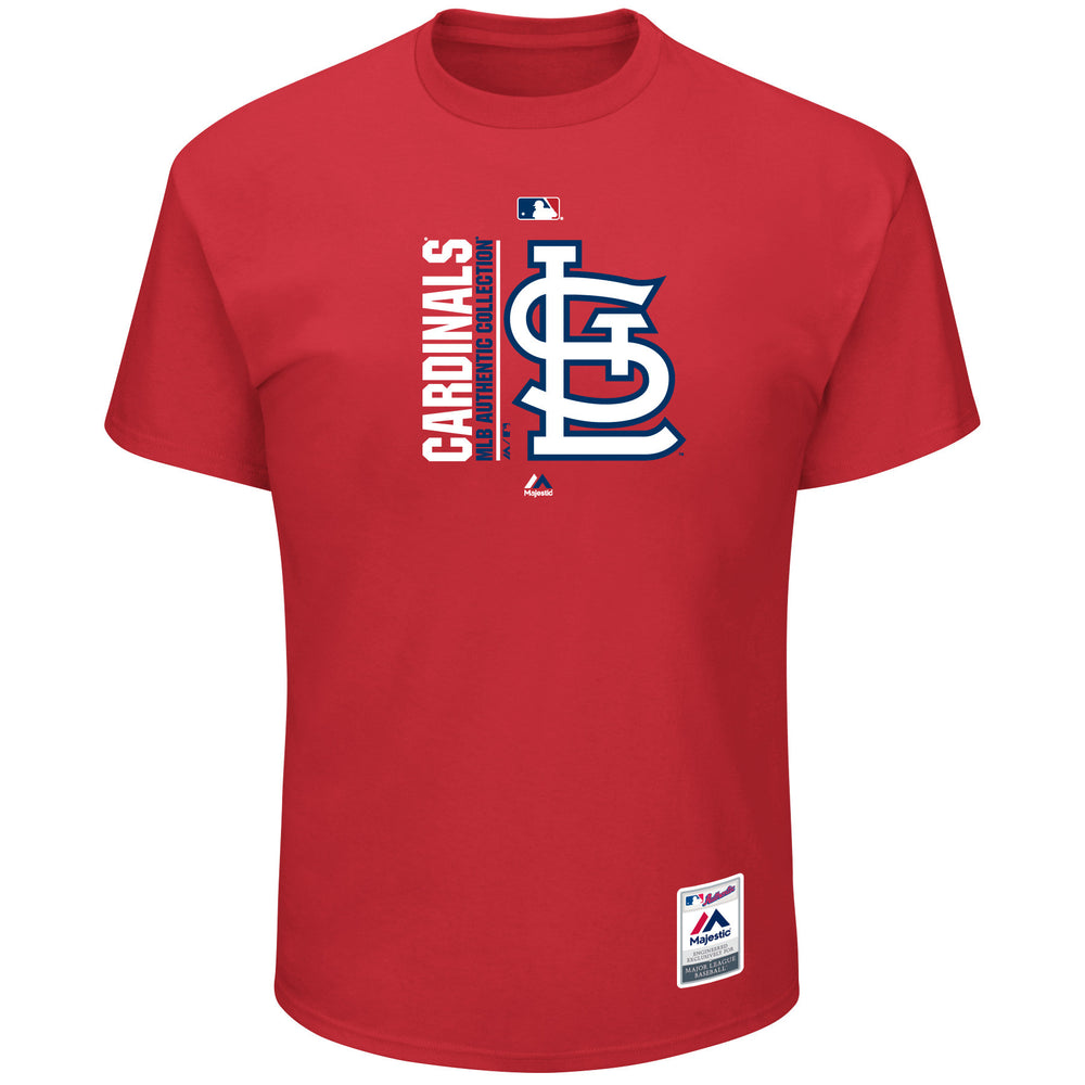 St. Louis Cardinals Men's Team Icon Clubhouse T-Shirt by Majestic