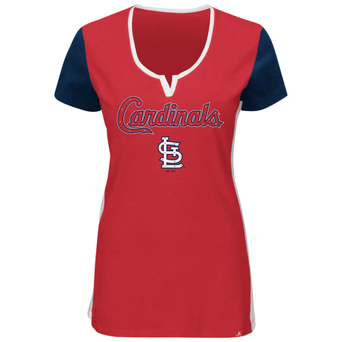 St. Louis Cardinals Time To Shine Ladies Short Sleeve T-Shirt by Majestic