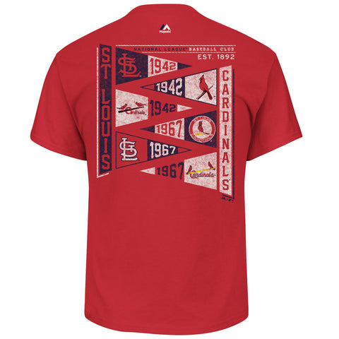 St. Louis Cardinals Wave The Pennant T-Shirt by Majestic