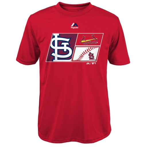 St. Louis Cardinals Boys Performance T-Shirt by Majestic