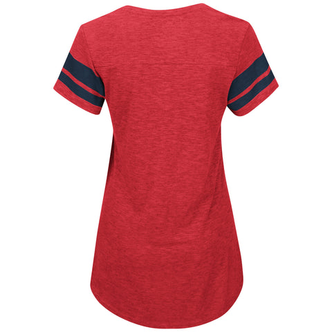 St. Louis Cardinals Check The Tape Ladies T-Shirt by Majestic
