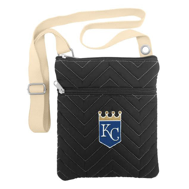 Kansas City Royals Ladies Chevron Stitch Crossbody Purse by Little Earth