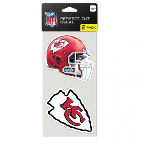 "Kansas City Chiefs Perfect Cut Decal 4""x4"" Set of 2 by Wincraft"