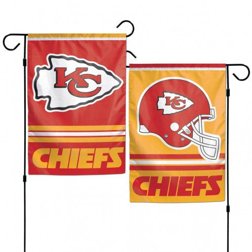 "Kansas City Chiefs Garden Flags 2 sided 12"" x 18"" by Wincraft"