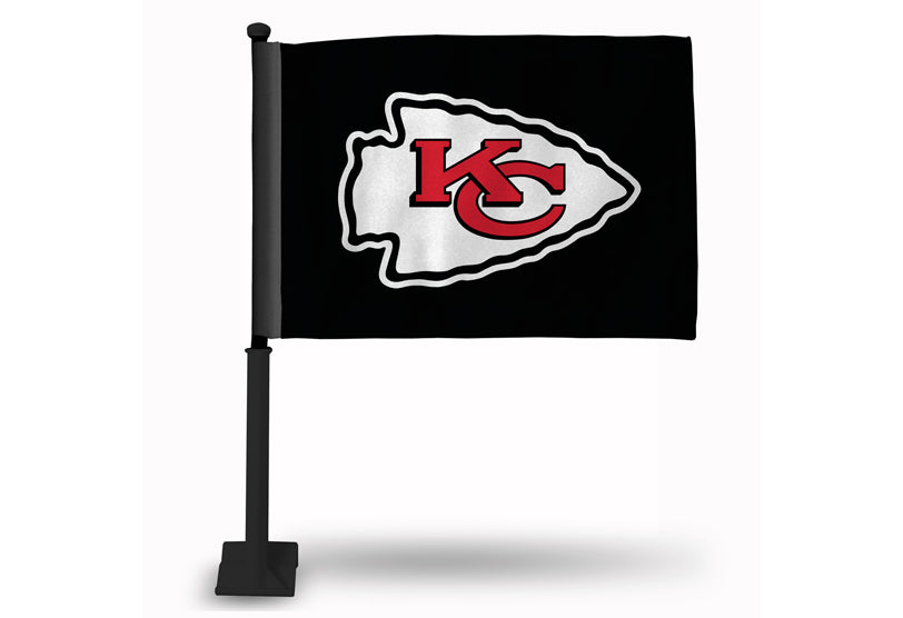 Kansas City Chiefs Black Car Flag by Rico