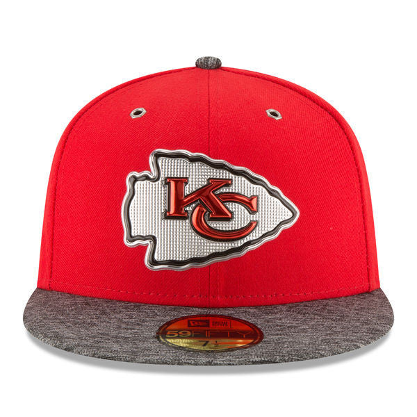 Kansas City Chiefs New Era 2016 NFL Draft On Stage 59FIFTY Fitted Hat - Red/Heathered Gray