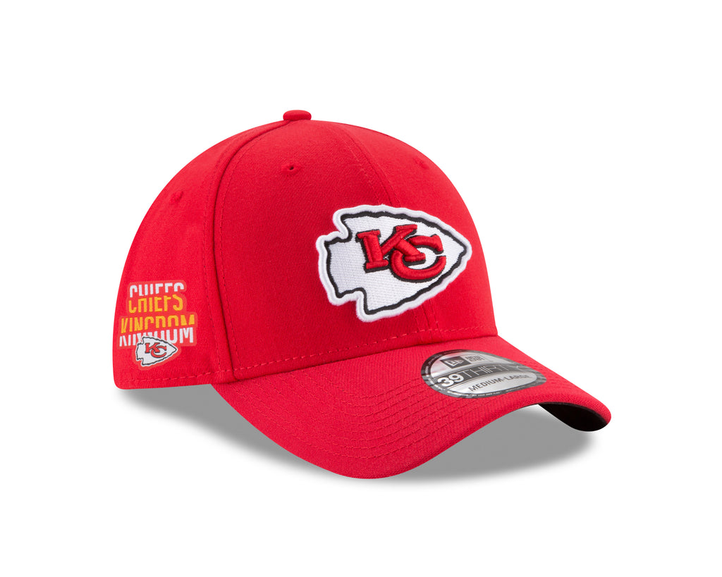 Kansas City Chiefs Chiefs Kingdom Side Patch 39THIRTY Stretch Fit Hat by New Era