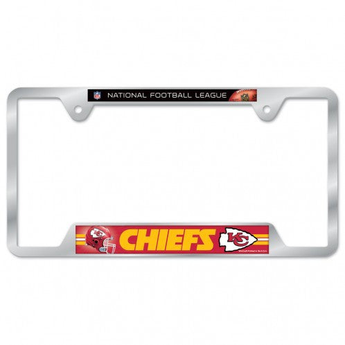 Kansas City Chiefs Metal License Plate Frame