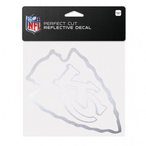 "Kansas City Chiefs Reflective Perfect Cut 6"" x 6"""