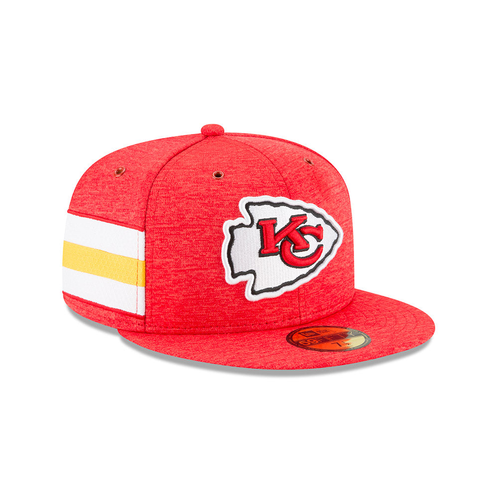 9cc7b73255b Kansas City Chiefs 2018 Home Sideline Fitted 59FIFTY Hat by New Era ...