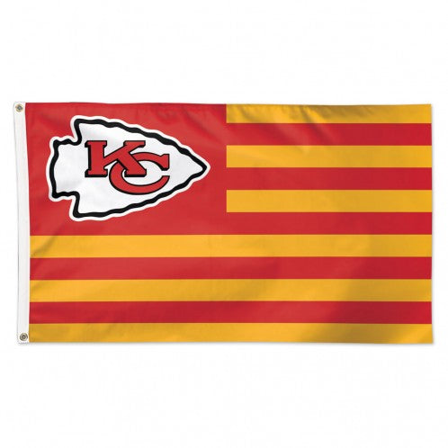 Kansas City Chiefs Americana Flag - Deluxe 3' X 5' by Wincraft
