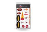 Kansas City Chiefs Team Tattoo Peel & Stick Variety Pack by Rico