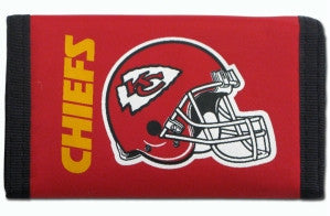 Kansas City Chiefs Nylon Trifold Wallet by Rico