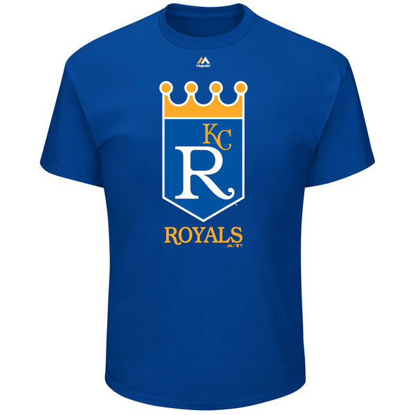 Kansas City Royals Cooperstown Official Logo T-Shirt by Majestic