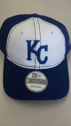 Kansas City Royals Adjustable 9TWENTY Core Shore White Front Hat by New Era