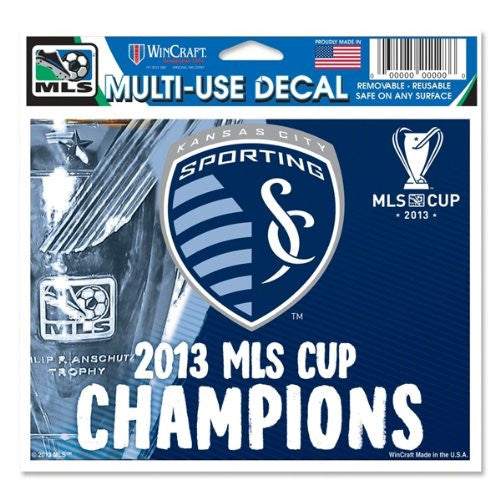 Sporting KC 2013 MLS Cup Champions Multi-Use Ultra Decal by Wincraft