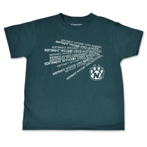 Northwest Missouri State Green Cheer Design Toddler T-Shirt
