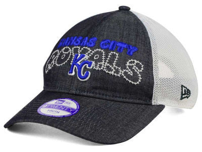 Kansas City Royals Youth Adjustable Denim Stitcher 9FORTY Hat by New Era